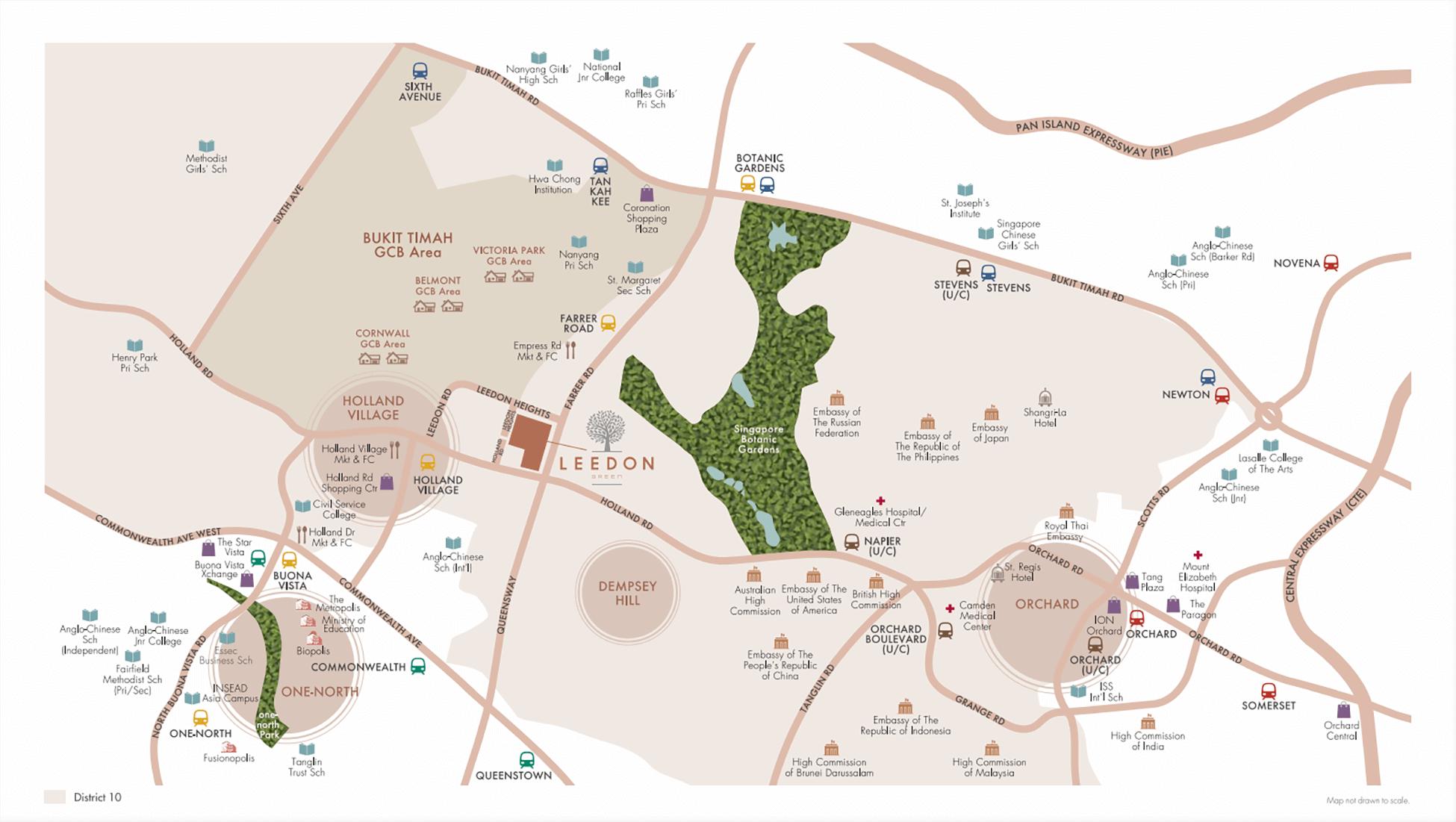 Leedon Green New Condo Singapore Location
