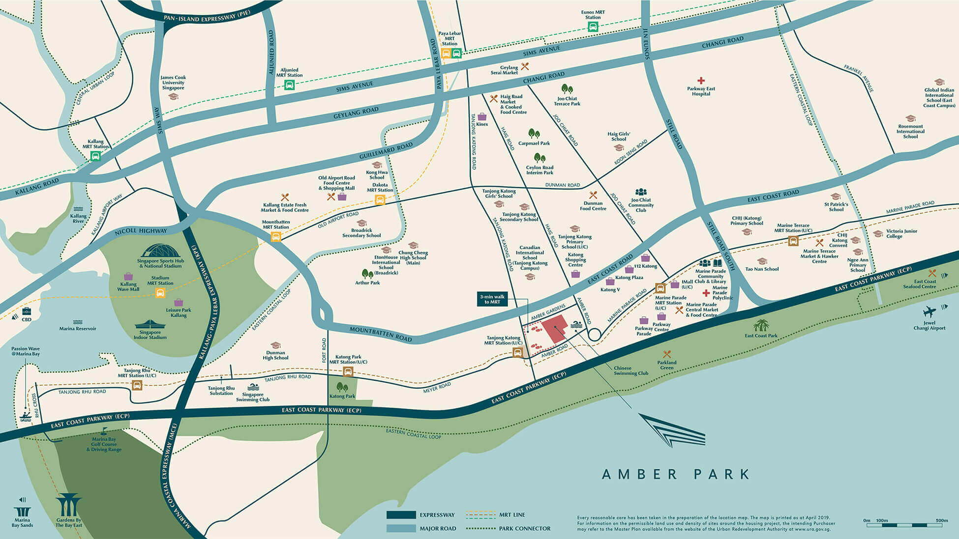 Amber Park New Condo Launch Location Map