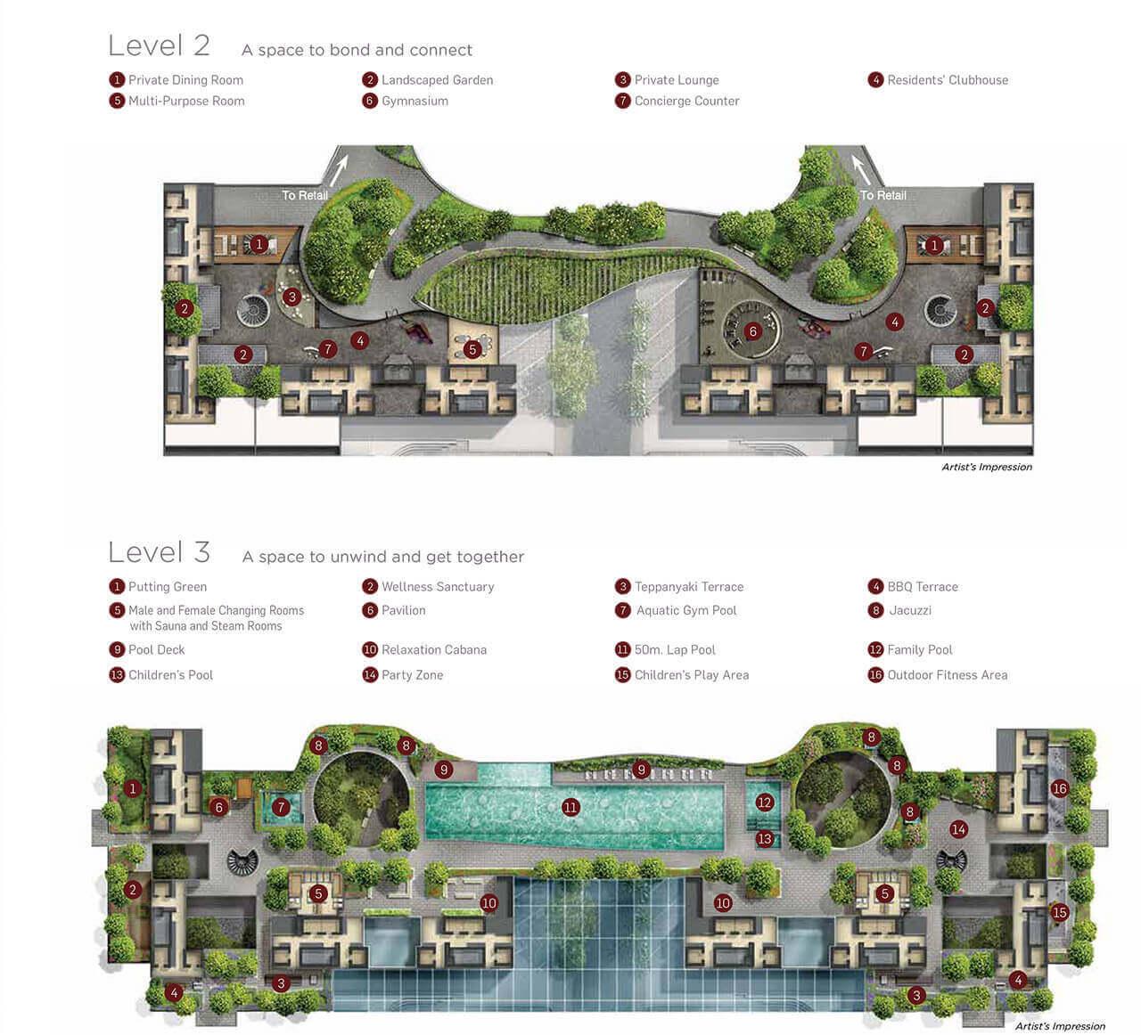 Marina One Residences Condo Singapore Facilities