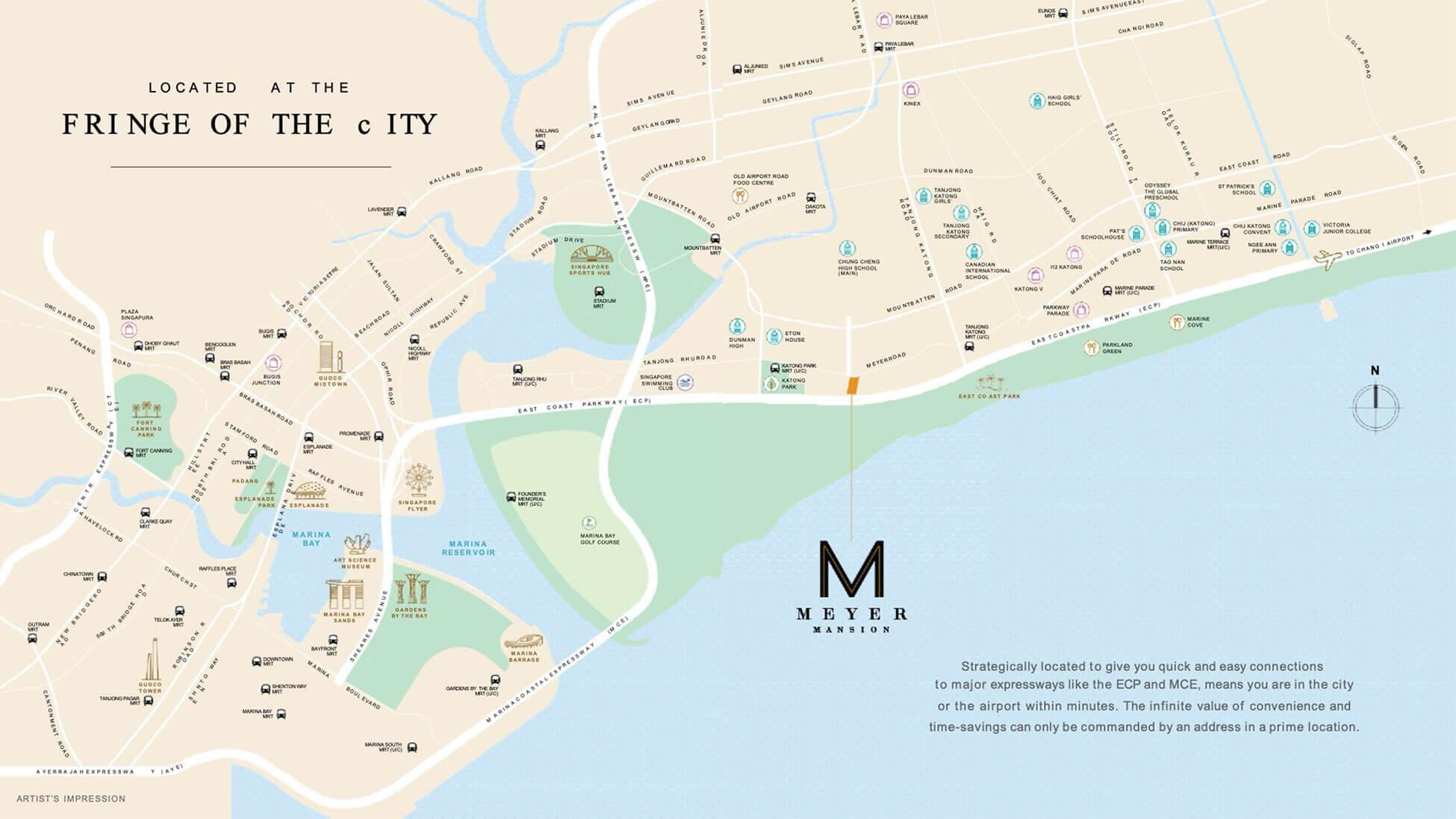 Meyer Mansion Condo Singapore Location Map